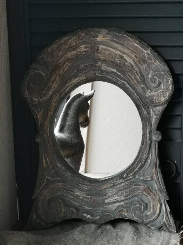 Houten sobere Spiegel