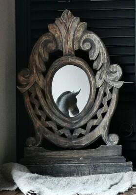 Sobere staande houten Spiegel #2