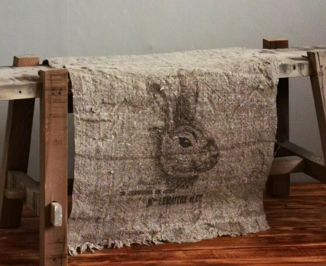 Shabby doek konijn 30x45cm