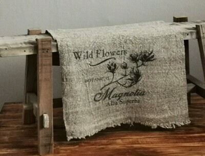 Shabby doek magnolia 30x45cm
