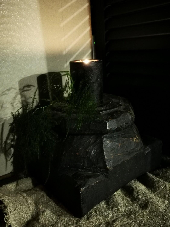 Zwarte houten poer #1