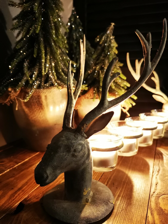 Sfeerlicht met 5 herten ornamenten