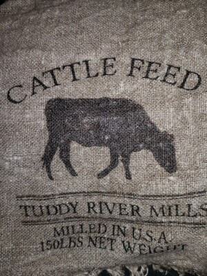 Shabby cattle feed