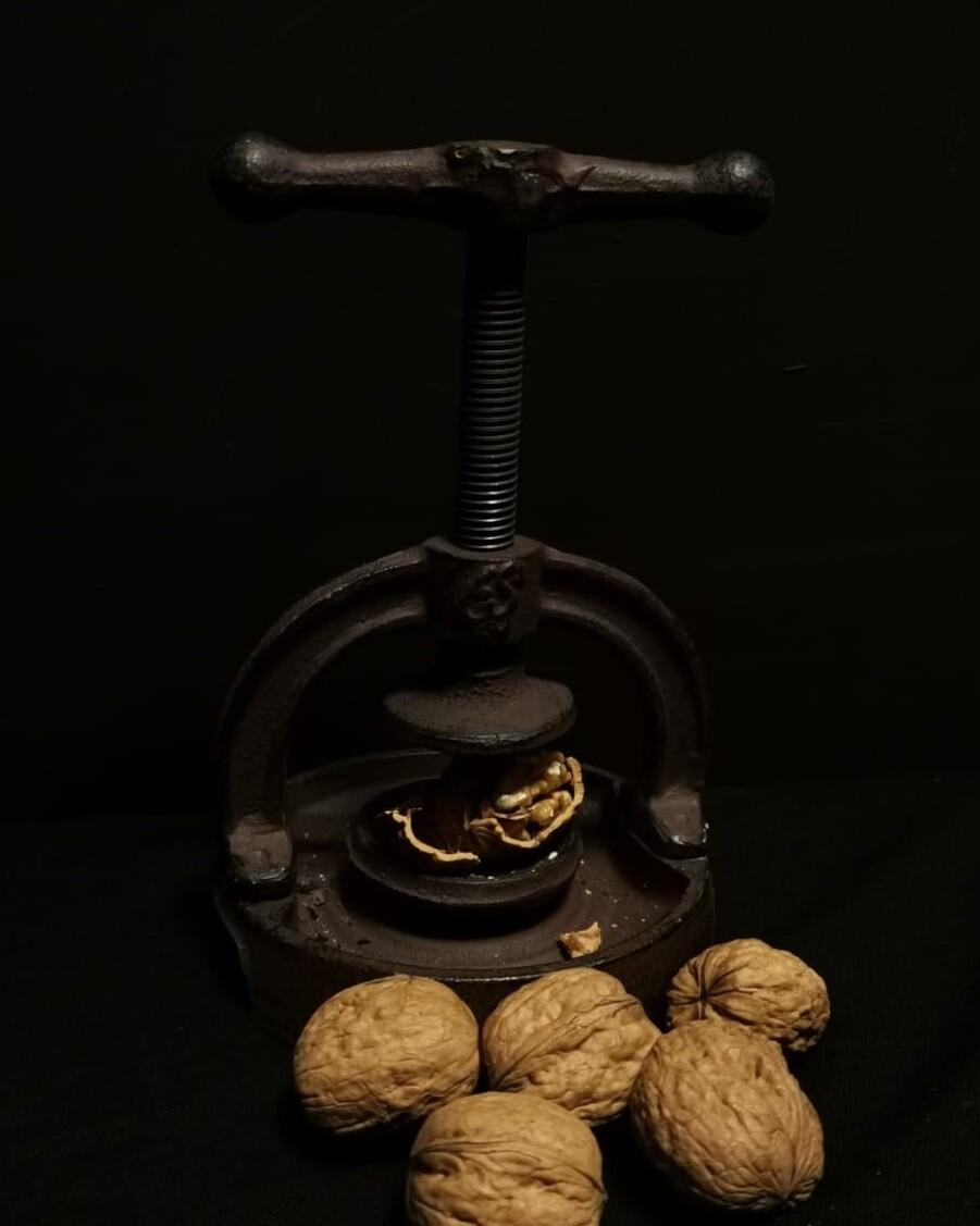 Gietijzeren notenkraker
