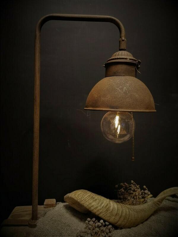 Klemlamp op batterijen