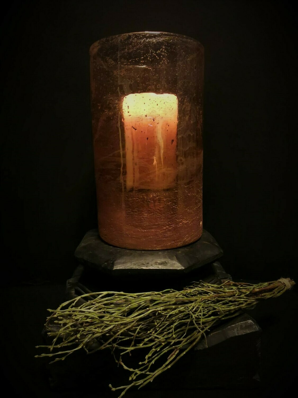 Sfeerlicht brons steenslag
