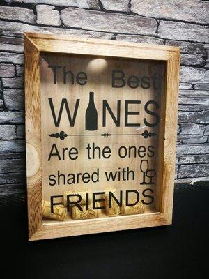 Wijnkurken kastje Friends
