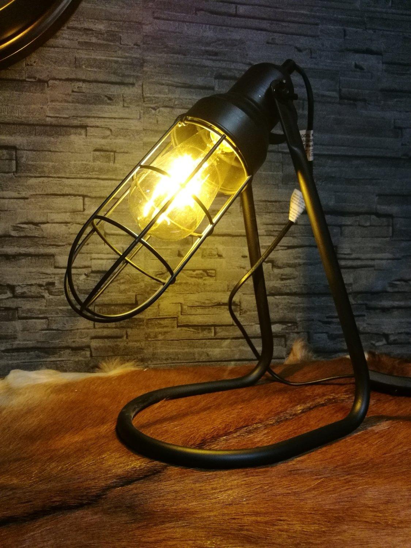 """Tafellamp metaal """"stallamp"""""""