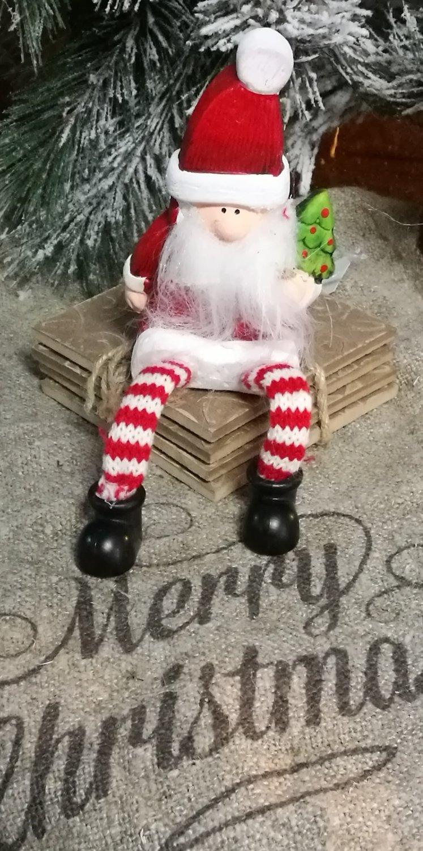 Houten bungelbeen kerstman