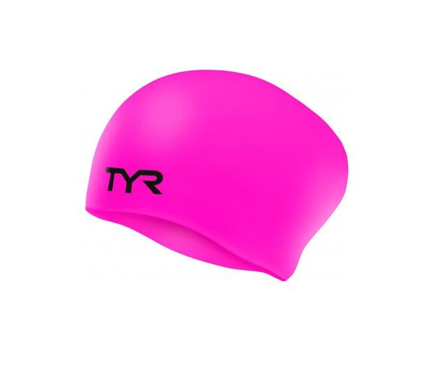 Шапочка для плавания TYR LONG HAIR WRINKLE FREE