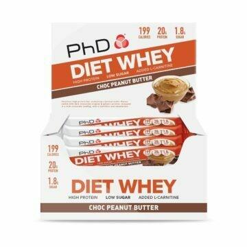 PhD Diet Whey Bar, Шоколад/Арахисовое масло (Упаковка 12 шт)