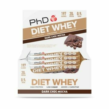 PhD Diet Whey Bar, Тёмный шоколад мокка (Упаковка 12 шт)