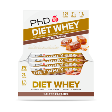 PhD Diet Whey Bar, Солёная карамель (Упаковка 12 шт)