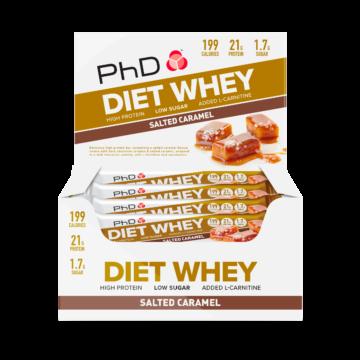 PhD Diet Whey Bar, Солёная карамель (Упаковка 12 шт)