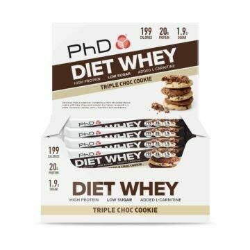 PhD Diet Whey Bar, Тройное шоколадное печенье (Упаковка 12 шт)