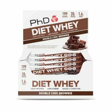 PhD Diet Whey Bar, Двойной шоколадный брауни (Упаковка 12 шт)