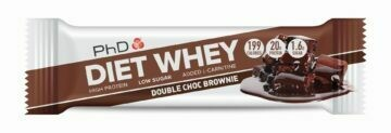 PhD Diet Whey Bar, Двойной шоколадный брауни