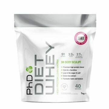 PhD Diet Whey Protein, Малина и белый шоколад, 1кг