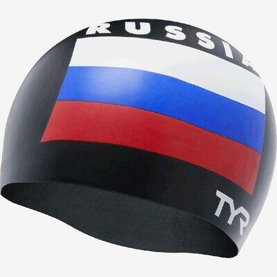 Шапочка для плавания TYR Russia Silicone Swim Cap