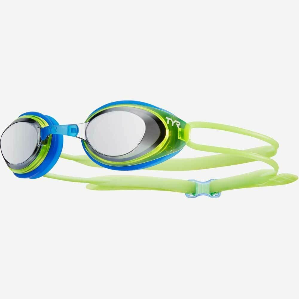 Очки для плавания подростковые TYR Blackhawk Racing Mirrored Junior