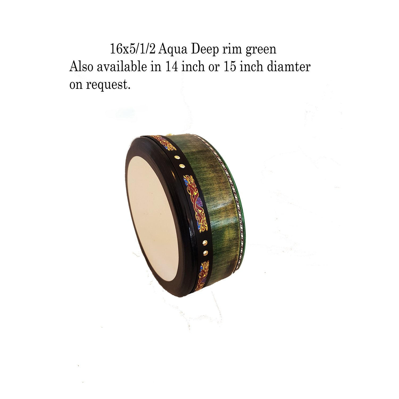 16 x 5/1/2 Aqua Green Hand Tuneable