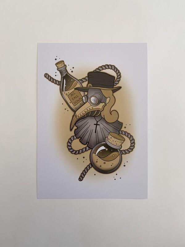 Plague Doc A5 Print