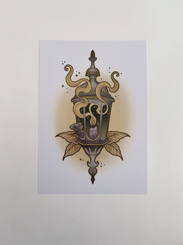 Lantern Mouse A5 Print