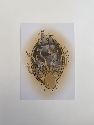 Kraken A5 Print