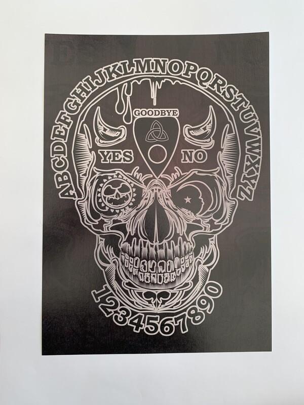Ouija Skull A4 Print