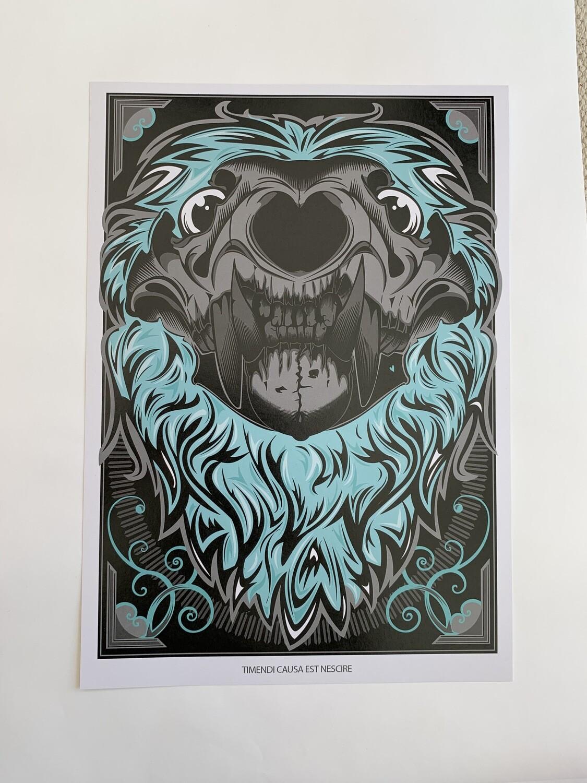 Lion Skull A4 Print