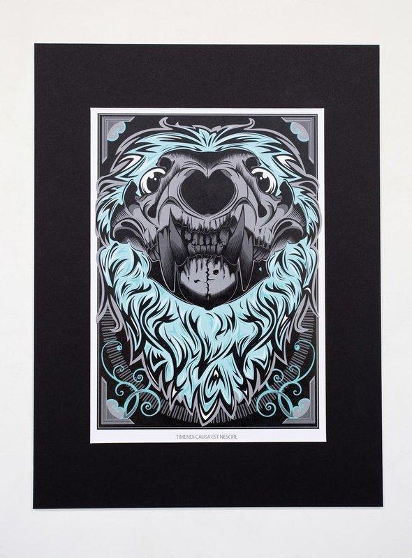Lion Skull A4 Print (16x12