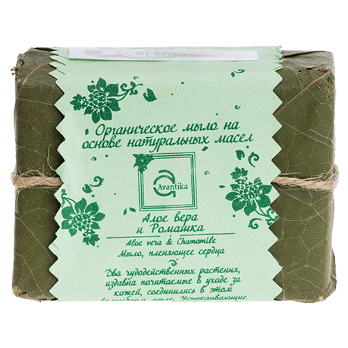 Органическое мыло на основе натуральных масел Алое вера и Ромашка Avantika Aloe vera & Chamomile