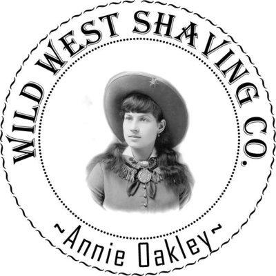 Annie Oakley Shaving Soap - Oak Leaves, Acorns, Rustic Pine, Violets.