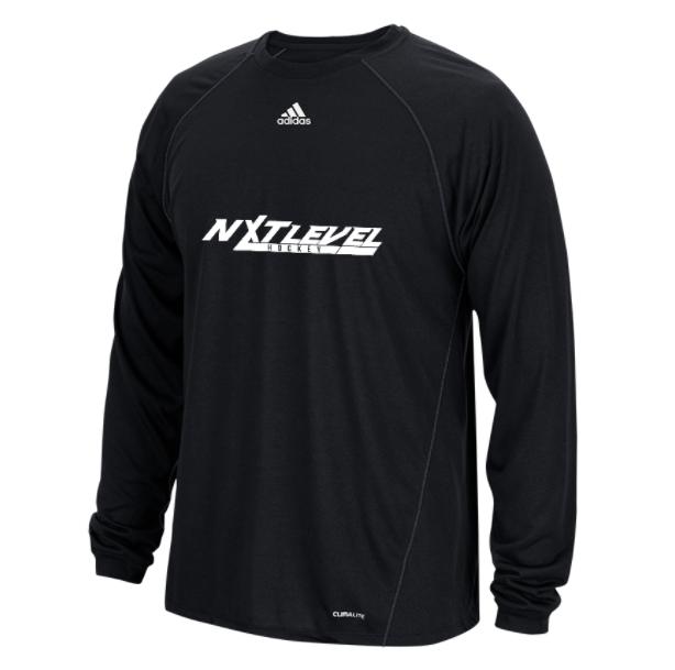 NLH Adidas Climalite Long Sleeve (Black/White)