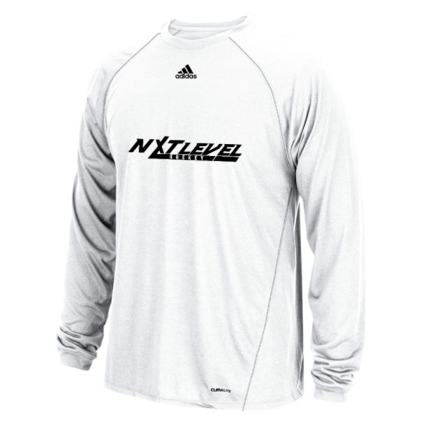 NLH Adidas Climalite Long Sleeve (White/Black)