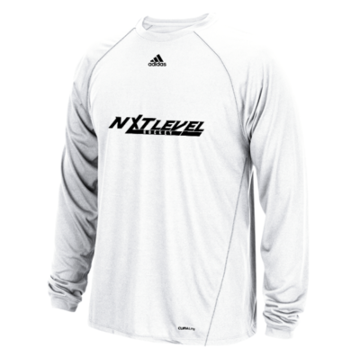 NLH Adidas Climalite Long Sleeve (White/Black)