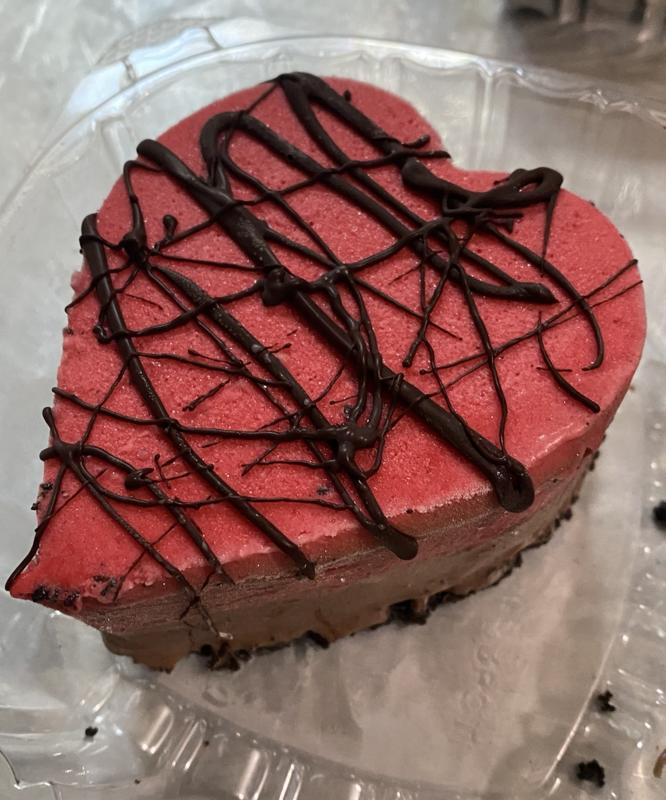 Heart gelato Cake for 2