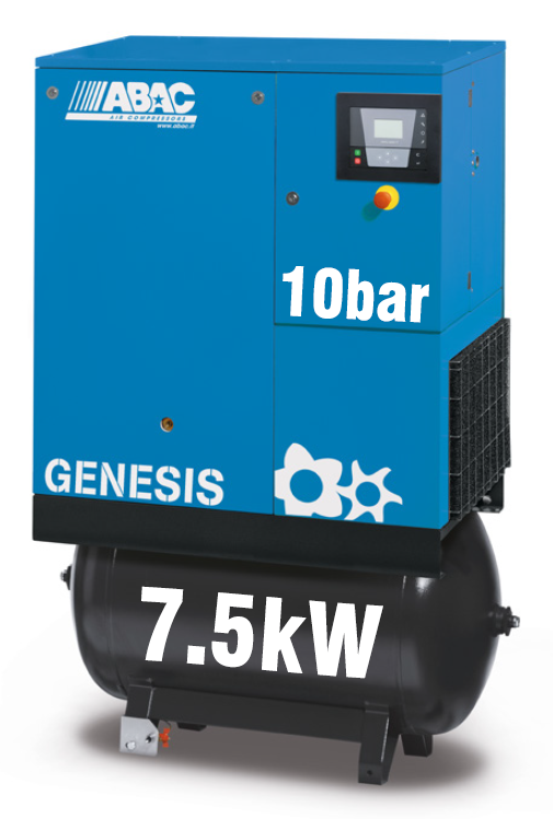 ABAC Genesis 7.5kW   37CFM   10bar   270L   Dryer  