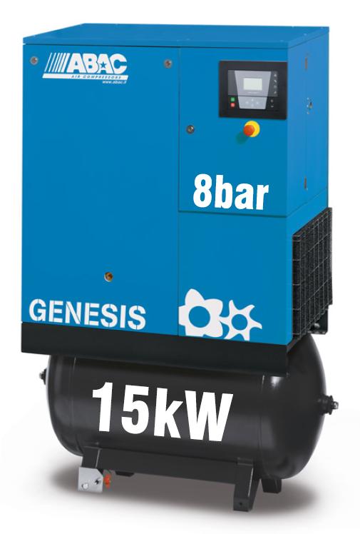 ABAC Genesis 15kW   81CFM   8bar   270L   Dryer  