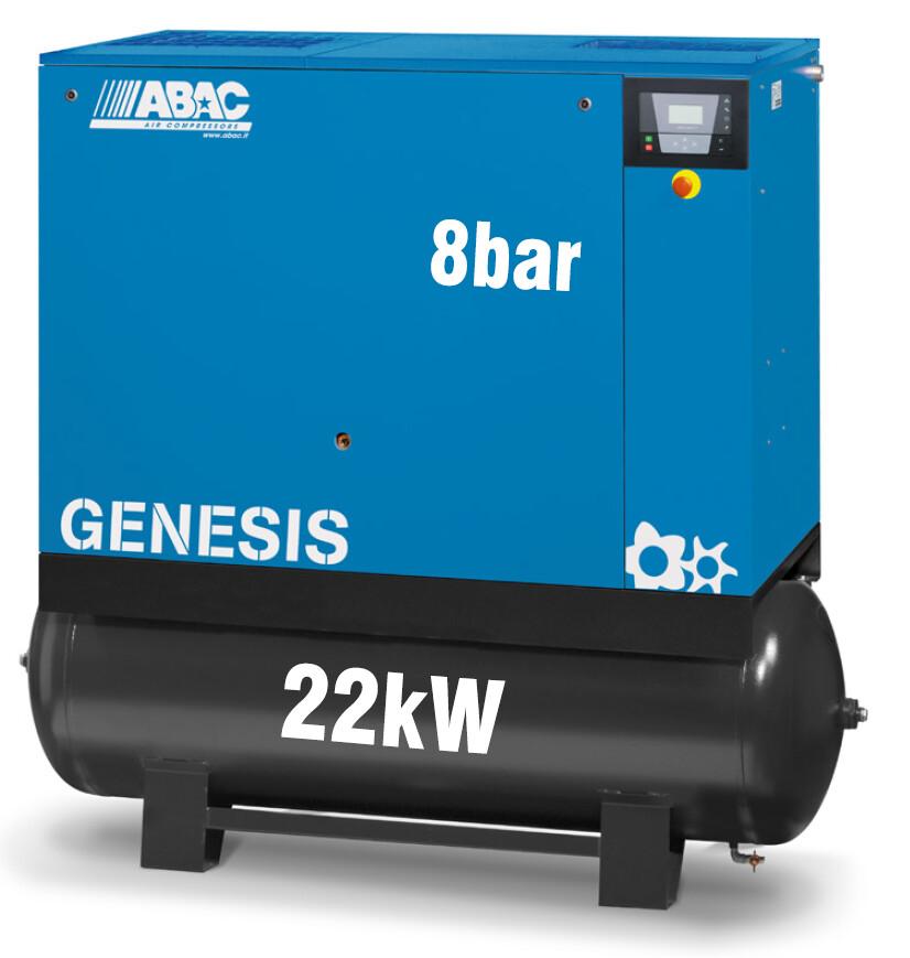 ABAC Genesis 22kW | 127CFM | 8bar | 500L | Dryer |