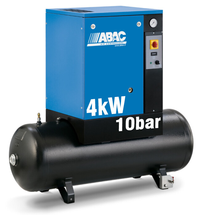 ABAC Spinn 4kW | 16CFM | 10bar | 200L | 400V |