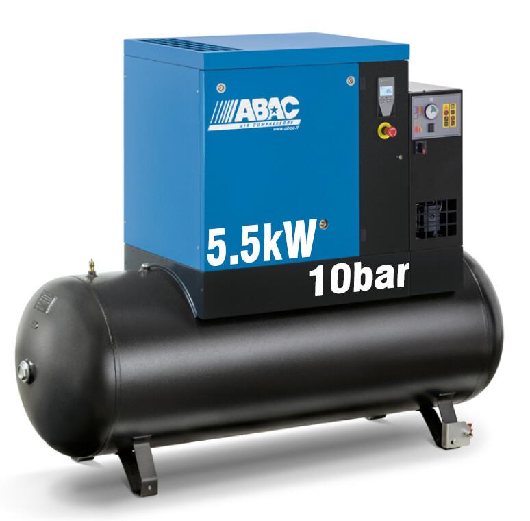 ABAC Spinn 5.5XE | 24CFM | 10bar | 270L | 415V | Smart | Dryer |