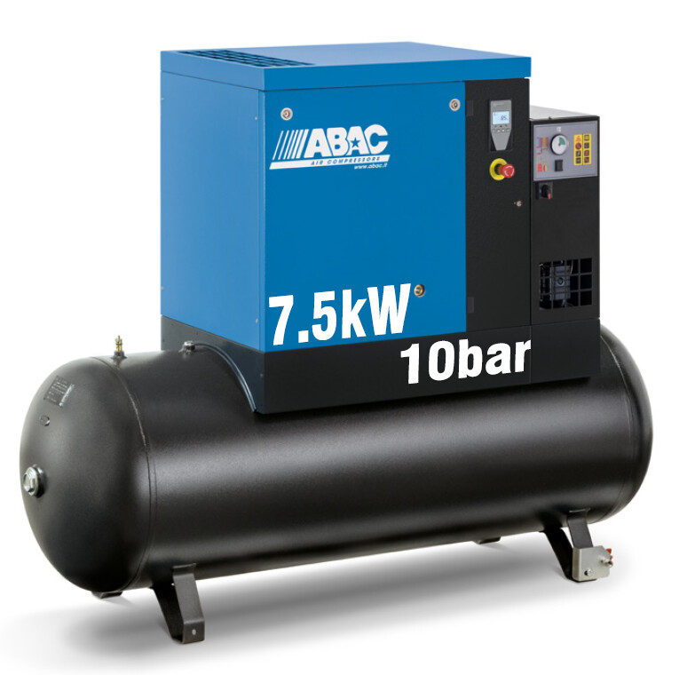 ABAC Spinn 7.5XE | 35CFM | 10bar | 270L | 415V | Smart | Dryer |