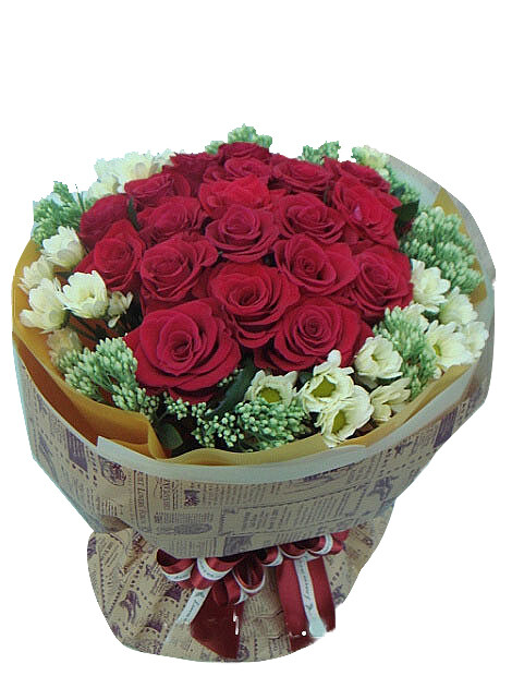 Red rose bouquet #21