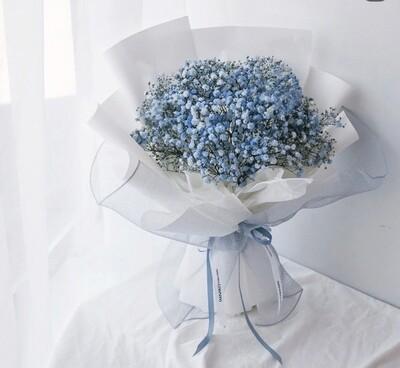 Blue Baby's Breath bouquet-Large