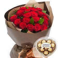 Red rose bouquet #16