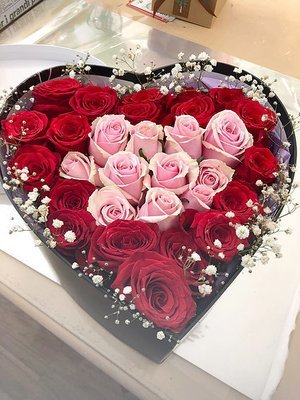 Red & Pink Rose Box #19