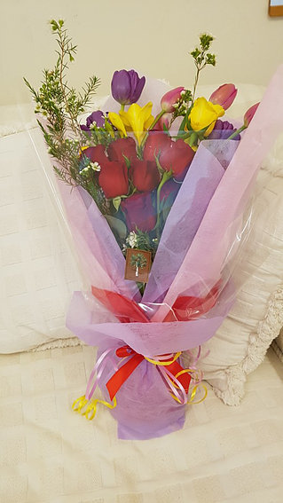 Red rose bouquet #25