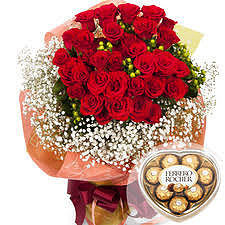 Red rose bouquet  #71