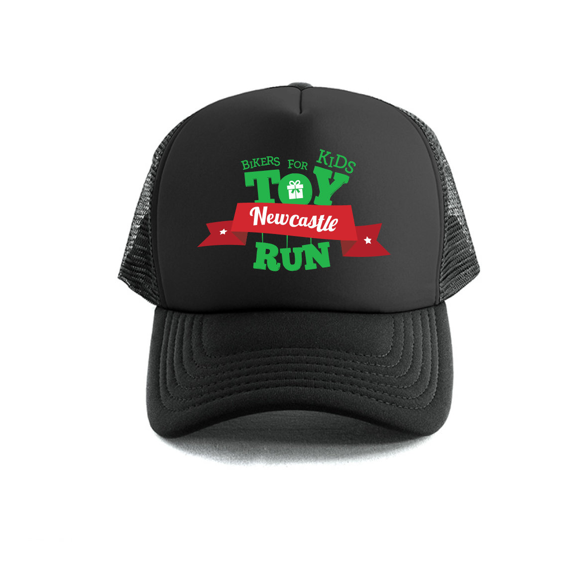 Toy Run Hat - Multiple colours - Black, White or Grey